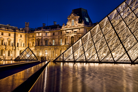 Pools and Pyramids - The Louvre
